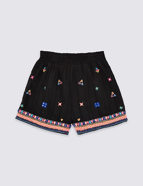 Embroidered Shorts (3-16 Years)