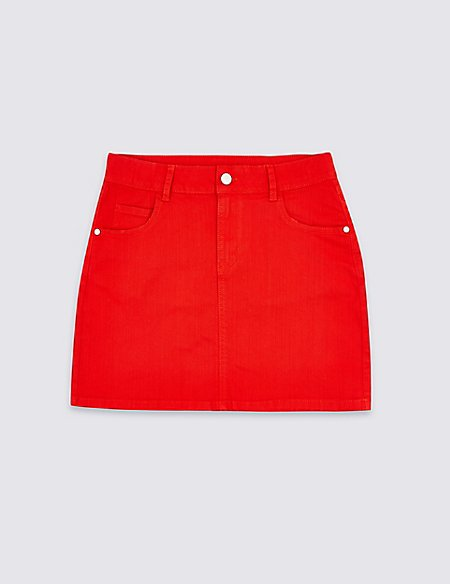 Cotton Skirt with Stretch (3-16 Years)