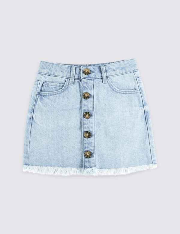 f5283aa796 Denim Button Through Skirt (3-16 Years)