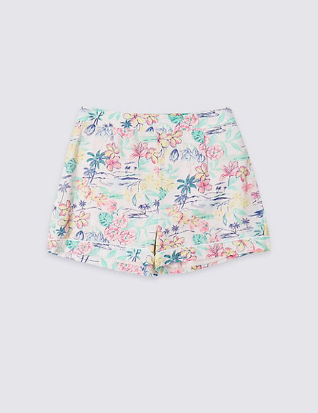 Palm Print Shorts (3-16 Years)