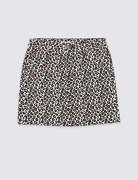 Leopard Print Skirt (3-16 Years)
