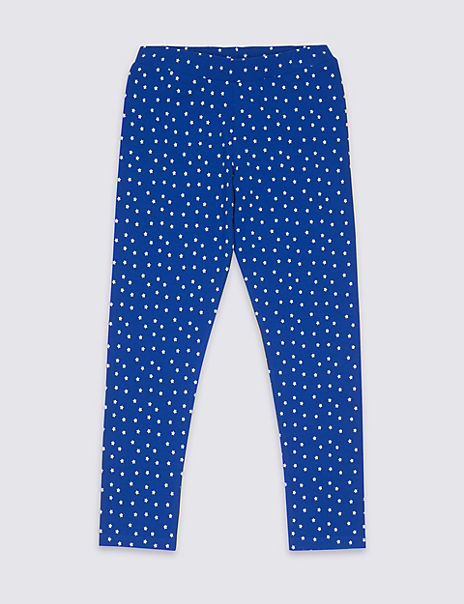 Cotton Star Leggings with Stretch (3-16 Years)