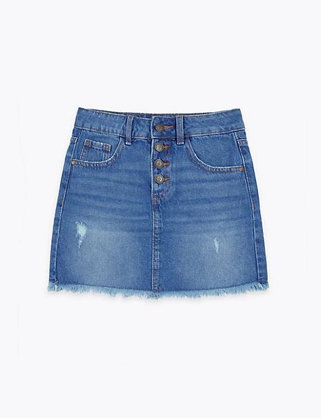 Cotton Denim Skirt (6-16 Years)