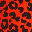 Cotton Leopard Leggings with Stretch (3-16 Years), SCARLET, swatch
