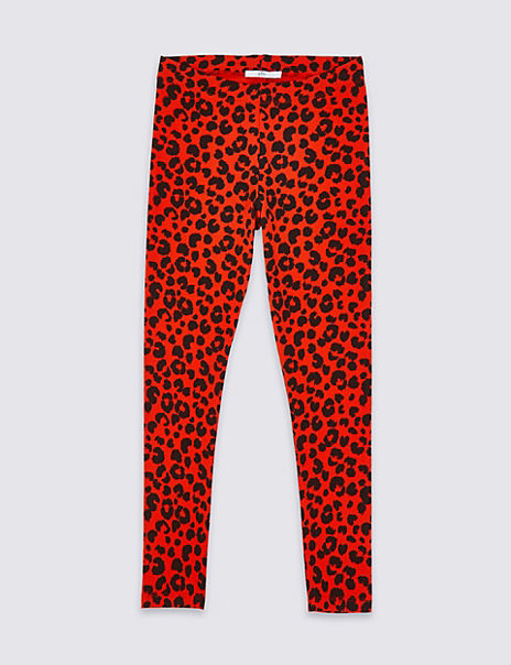 Cotton Leopard Leggings with Stretch (3-16 Years)