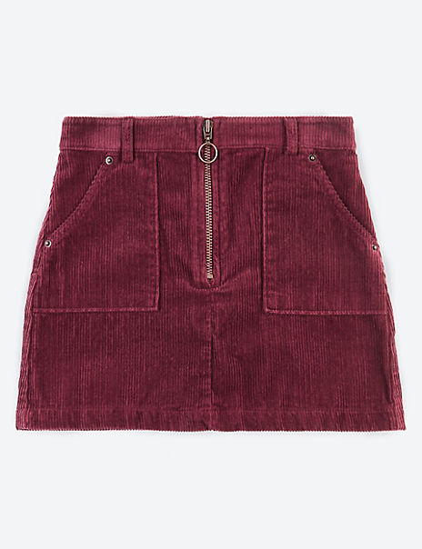 Pure Cotton Cord Skirt (3-16 Years)