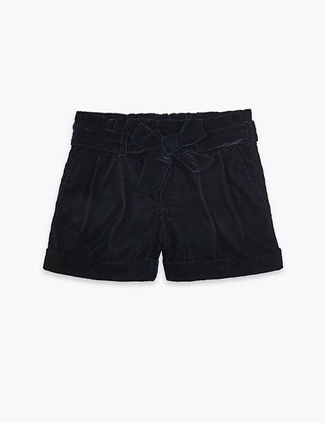 Velvet Shorts (3-16 Years)
