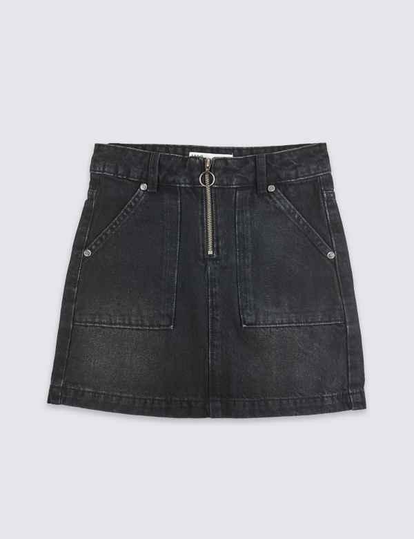 f100f1ab9 Denim Zip Front Skirt (3-16 Years)