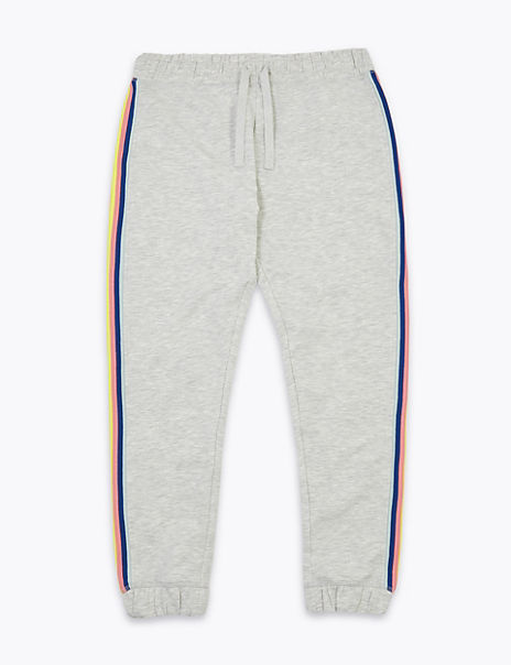Cotton Rich Rainbow Side Stripe Joggers (6-16 Years)