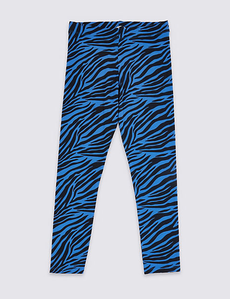 Cotton Zebra Print Leggings with Stretch(3-16 Years)