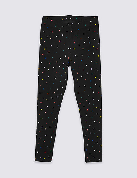 Cotton Leggings with Stretch (3-16 Years)