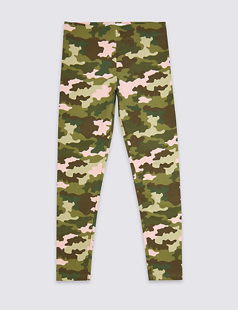 Camouflage Print Leggings (3-16 Years)