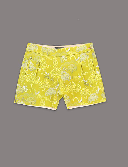 Louise Wilkinson Cotton Rich Contrast Print Shorts (5-14 Years)
