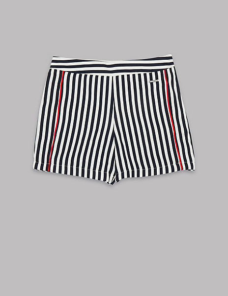 Pure Cotton Striped Shorts (3-16 Years)