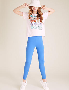 5 Pack Cotton Rich Leggings (3-16 Years)
