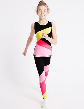 Colour Block Leggings (3-16 Years)