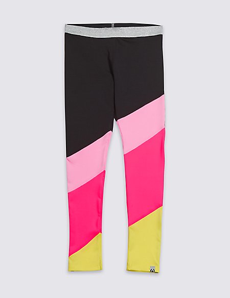 Colour Block Leggings (3-16 Years)