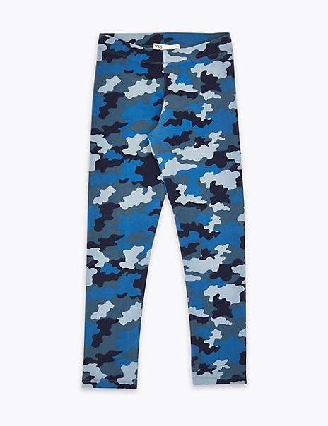 Cotton Camouflage Print Leggings (3-16 Years)