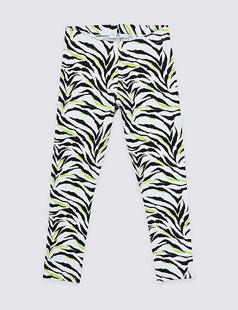 Cotton Zebra Leggings with Stretch (3-16 Years)