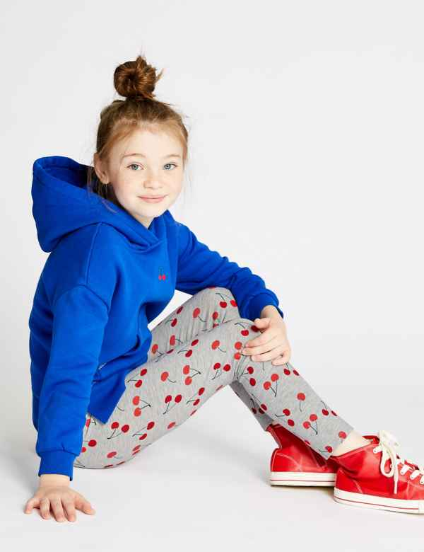 84aa389d0b3 Cotton Cherry Leggings with Stretch (3-16 Years)