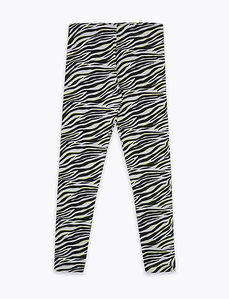 Zebra Print Leggings (6-16 Years)