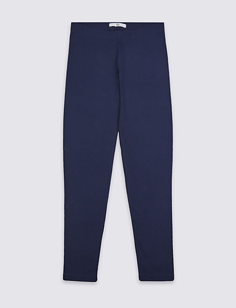 Cotton Leggings with Stretch (3-14 Years)