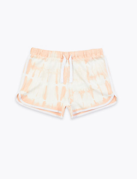 Pure Cotton Tie Dye Jersey Shorts (6-16 Years)