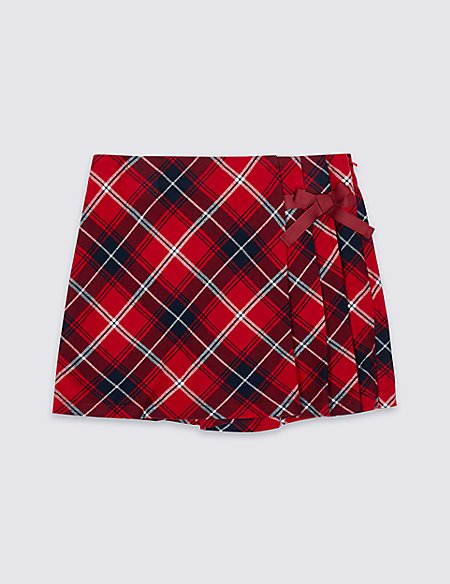 Pure Cotton Checked Skort (3-16 Years)