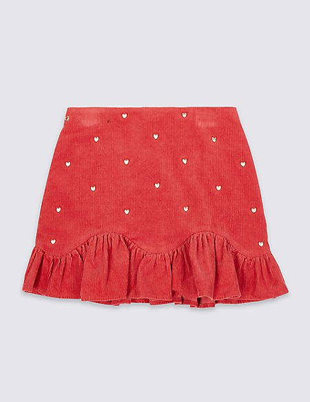 Heart Cord Skirt (3-16 Years)