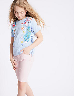Cotton Rich Knee Length Shorts (3-16 Years)