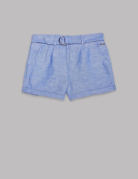 Chambray Shorts (3-16 Years)