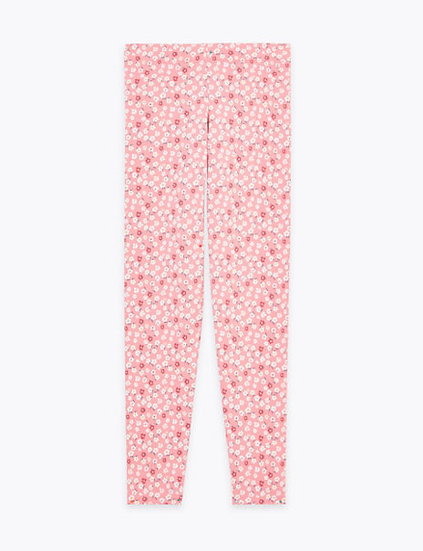 Slim Cotton Rich Floral Leggings (6-16 Years)