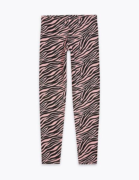 Cotton Rich Zebra Leggings (6-16 Years)