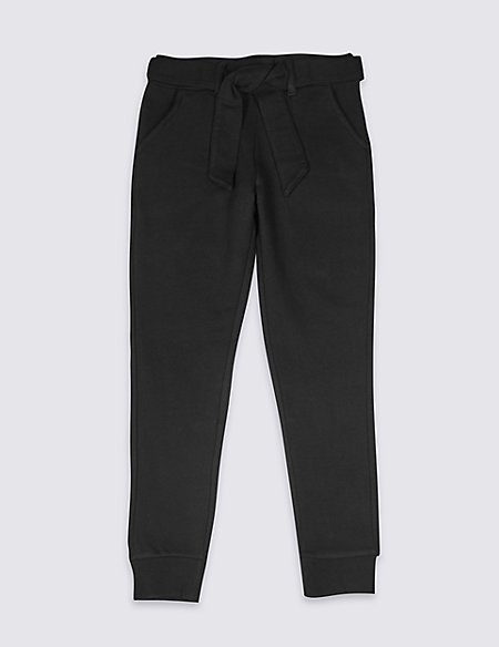 Cotton Rich Joggers with Belt (3-16 Years)
