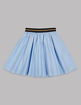 Pure Cotton Chambray Skirt (3-16 Years)