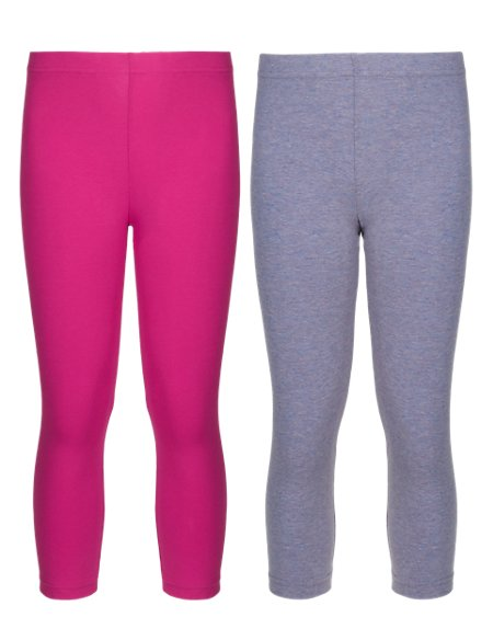 2 Pack of Assorted Coloured Leggings (5-14 Years)