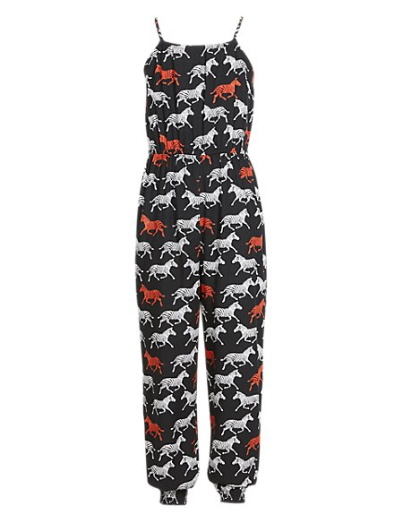 Tribal Print Girls Jumpsuit with StayNEW™ (5-14 Years)