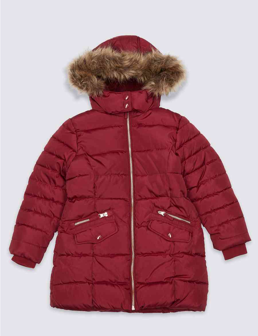 190acf80ab01 Faux Fur Padded Coat With Stormwear™ (3-16 Years)