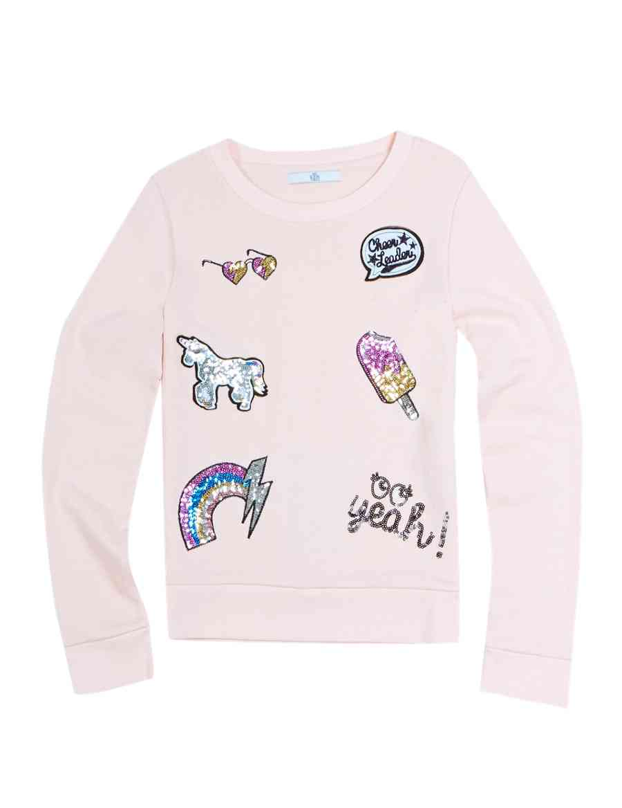 63142448 Cotton Rich Sequin Embellished Sweatshirt (5-14 Years) | M&S