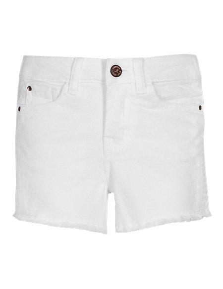 Cotton Rich Frayed Hem Denim Shorts (5-14 Years)