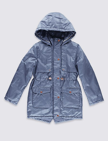 Pure Cotton Hooded Coat with Stormwear™ (5-14 Years)