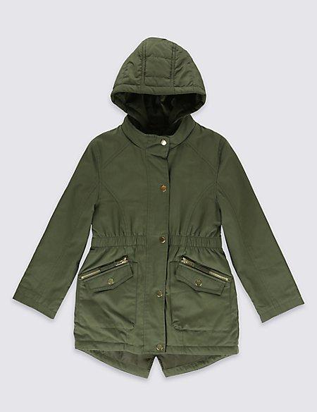 Cotton Blend Lightweight Parka with Stormwear™ (5-14 Years)