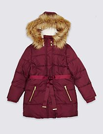 Faux Fur Zip Through Padded Coat with Stormwear™ (3-14 Years)