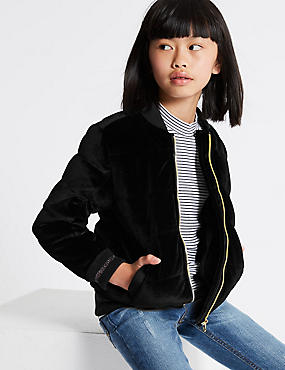 Zipped Through Bomber Jacket (3-14 Years)