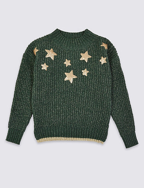 Chenille Star Sequin Jumper (3-16 Years)
