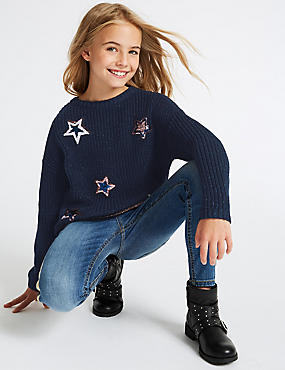 Cotton Rich Star Jumper (3-16 Years)