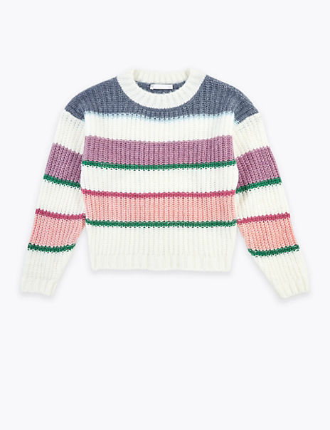 Knitted Colour Block Jumper (6-16 Years)