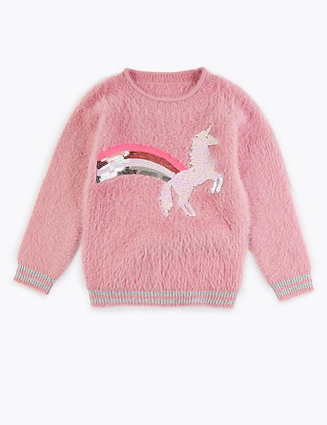 Sequin Unicorn Print Jumper (3-16 Years)