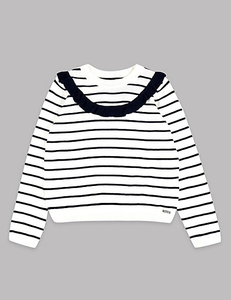 Cotton Blend Striped Jumper (3-16 Years)