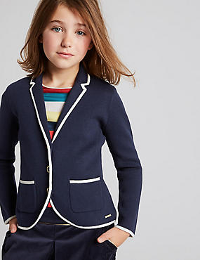 Cotton Rich Knitted Blazer (3-14 Years)